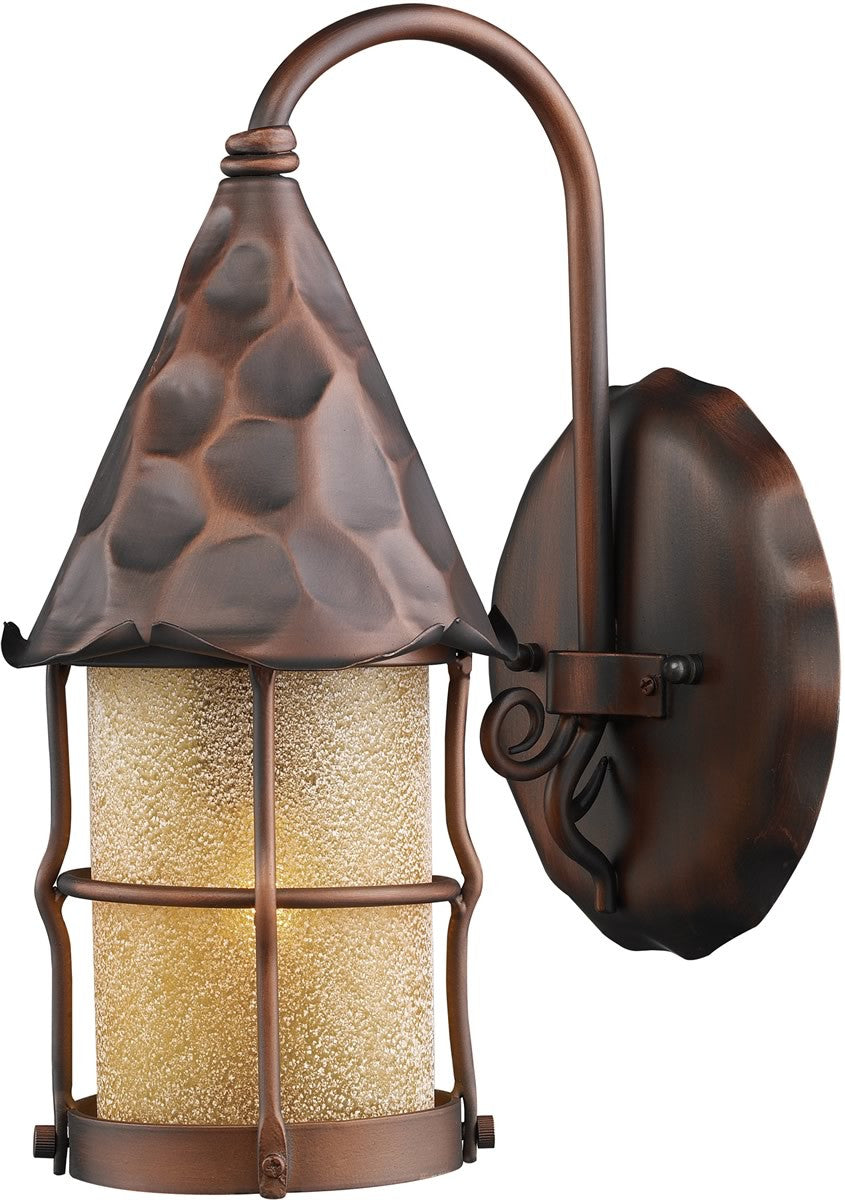 "14""h Rustica 1-Light Outdoor Wall Mount Antique Copper"