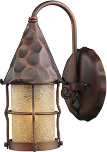 Elk Lighting Rustica 1-Light Outdoor Wall Mount Antique Copper 381AC