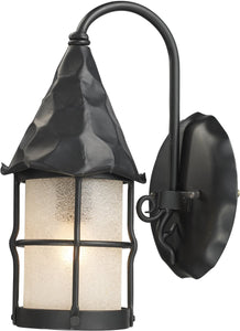 "14""h Rustica 1-Light Outdoor Wall Mount Matte Black"