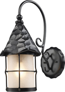 Elk Lighting Rustica 1-Light Outdoor Wall Mount Matte Black 385BK