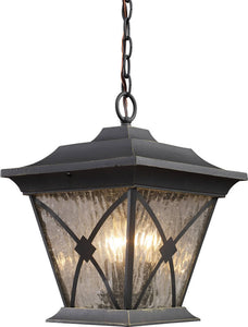 Elk Lighting Rutland Square 1-Light Outdoor Pendant Hazelnut Bronze 421231