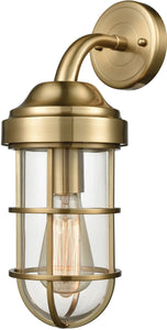 Elk Lighting Seaport 1-Light Wall Sconce Satin Brass 663851