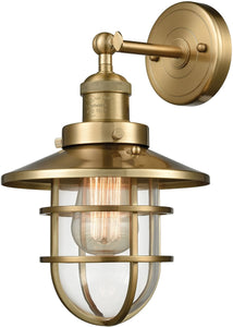 Elk Lighting Seaport 1-Light Wall Sconce Satin Brass 663861