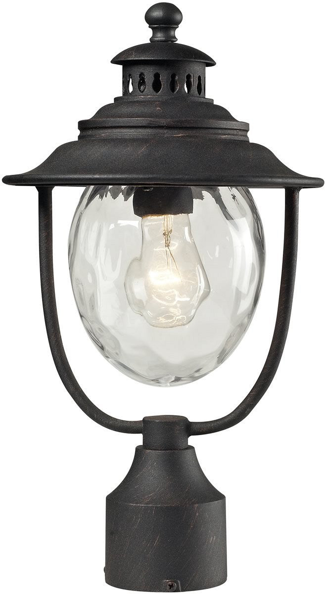 "15""H Searsport 1-Light Outdoor Post Light Weathered Charcoal"