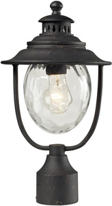 Elk Lighting Searsport 1 Light Outdoor Post Light Weathered Charcoal 450421