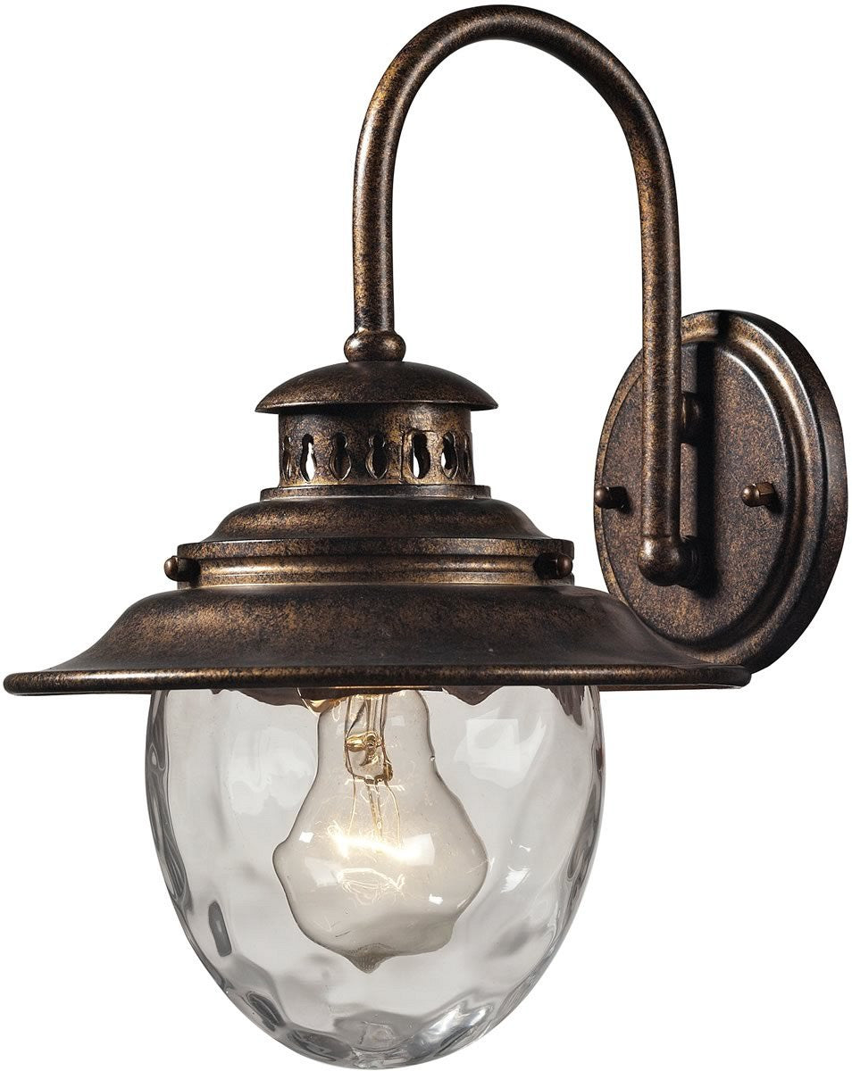 "13""H Searsport 1-Light Outdoor Wall Sconce Regal Bronze"