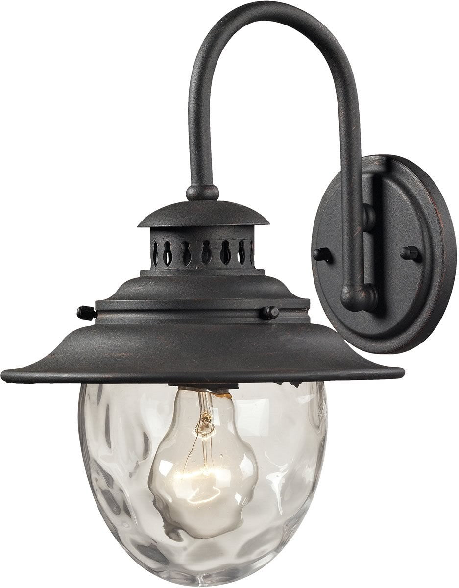 Searsport 1-Light Outdoor Wall Sconce Weathered Charcoal
