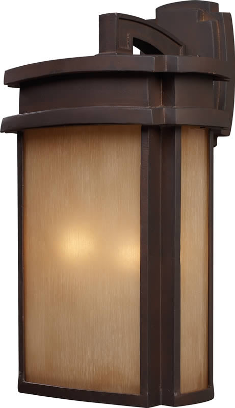 "20""H Sedona 2-Light Outdoor Wall Lantern Clay Bronze"