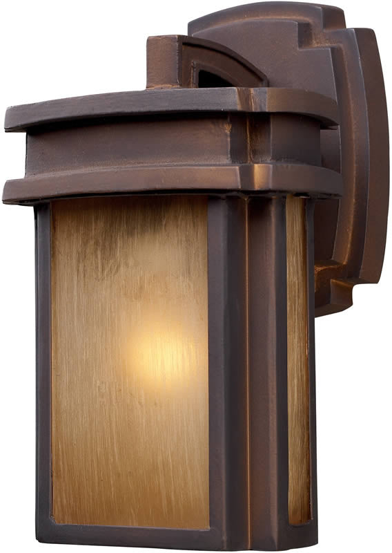 "10""H Sedona 1-Light Outdoor Wall Lantern Hazelnut Bronze"