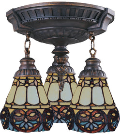 Elk Lighting Mix-N-Match Tiffany 3-Light Semi Flush Aged Walnut 997AW21