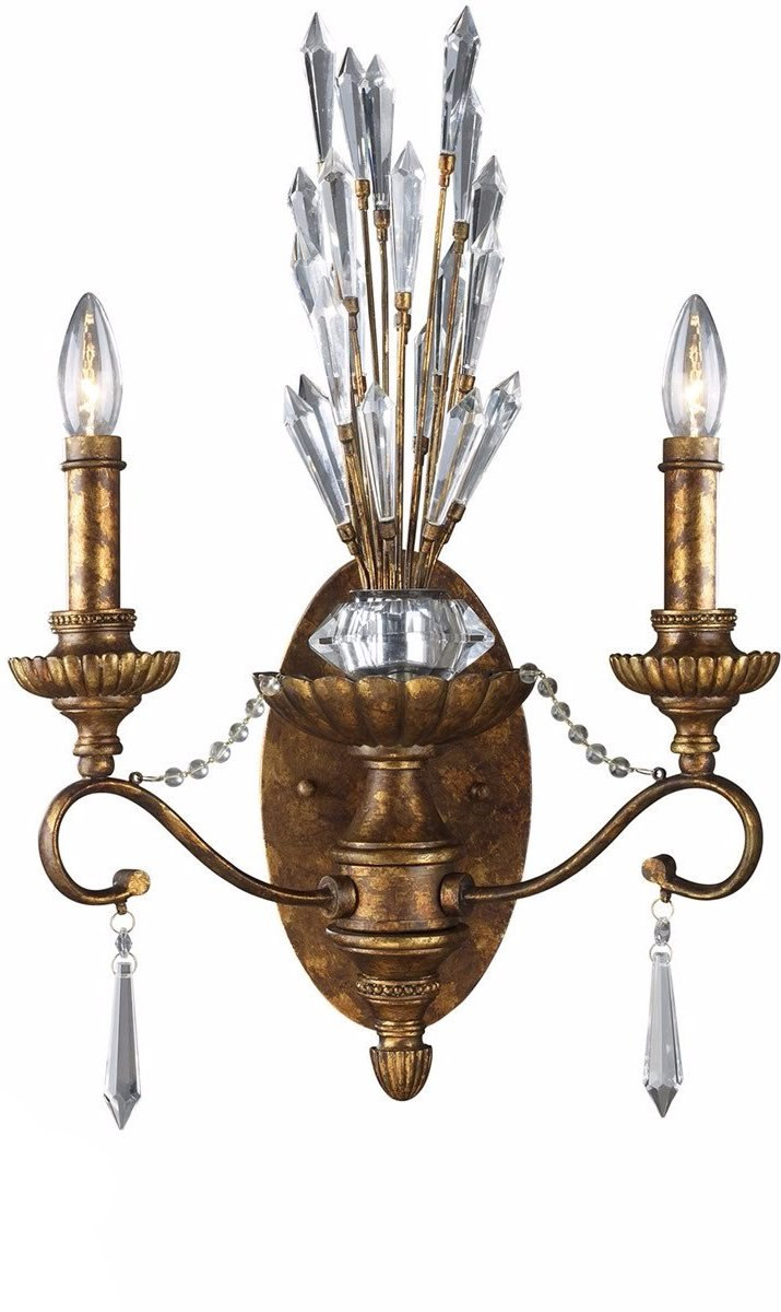 "15""w Senecal 2-Light Sconce Spanish Bronze"