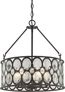 Serai 5-Light Chandelier Oil Rubbed Bronze/Clear Glass