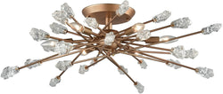 Serendipity 6-Light Semi Flush Matte Gold/Clear Bubble Glass