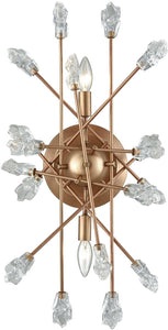 Serendipity 2-Light Sconce Matte Gold/Clear Bubble Glass