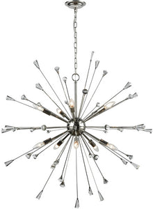 Elk Lighting Sprigny 10-Light Chandelier Polished Nickel/Clear Crystal 3303110