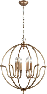 Elk Lighting Stanton 6-Light Chandelier Matte Gold 128436