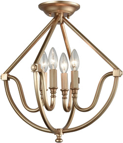 Elk Lighting Stanton 4-Light Semi Flush Matte Gold 128414