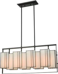 Elk Lighting Stratus 4-Light Chandelier Oil Rubbed Bronze/Bone Tiffany Glass 721744