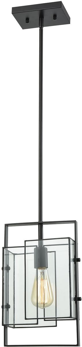 "9""W Stratus 1-Light Pendant Oil Rubbed Bronze/Clear Glass"