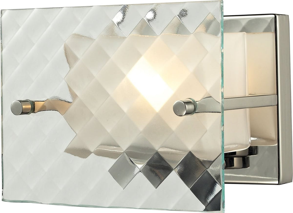 "7""W Talmage 1-Light Bath Light Brushed Nickel"