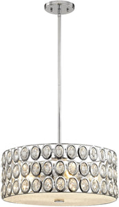 Elk Lighting Tessa 5-Light Chandelier Polished Chrome/Clear Crystal 811555