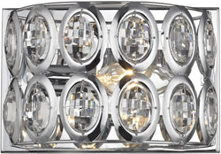 Tessa 1-Light Vanity Polished Chrome/Clear Crystal