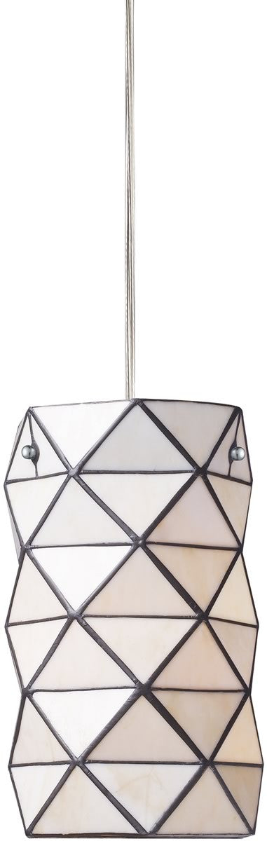 "7""w Tetra Tiffany 1-Light Pendant Polished Chrome"