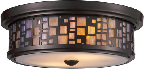 Elk Lighting Tiffany 2-Light Flush Mount Oiled Bronze 700272