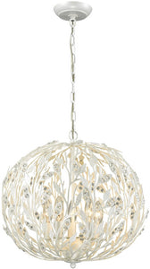 Elk Lighting Trella 5-Light Chandelier Pearl White 18185/5