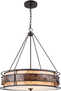 Elk Lighting Tremont 3-Light Chandelier Tiffany Bronze/Tan/Brown Mica 702643