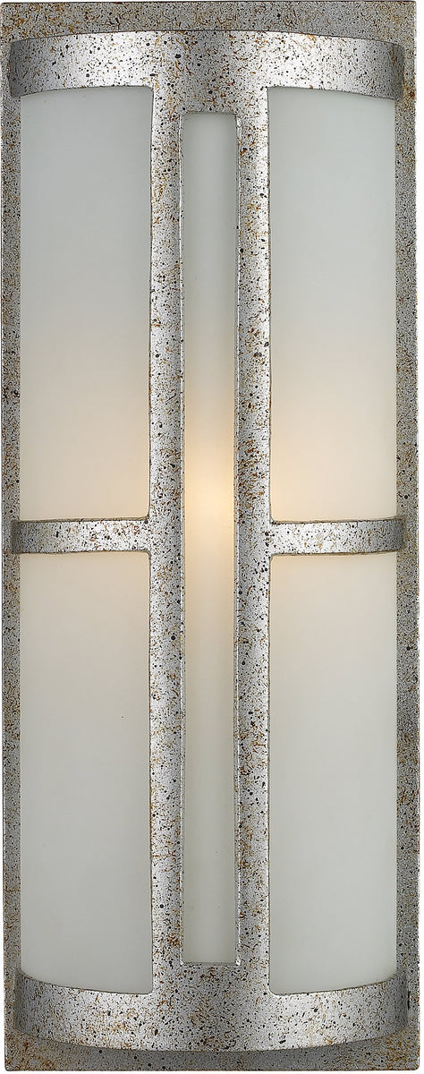 "17""h Trevot 1-Light Outdoor Wall Mount Sunset Silver with Translucent Glass"