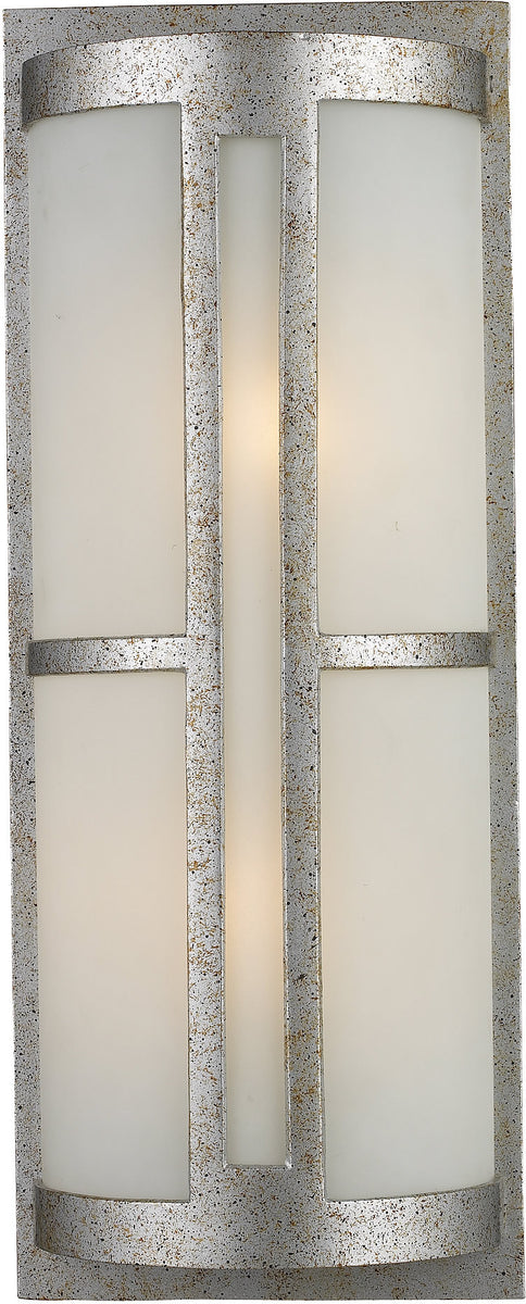 "22""h Trevot 2-Light Outdoor Wall Mount Sunset Silver with Translucent Glass"