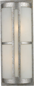 Elk Lighting Trevot 2-Light Outdoor Wall Mount Sunset Silver with Translucent Glass 420962