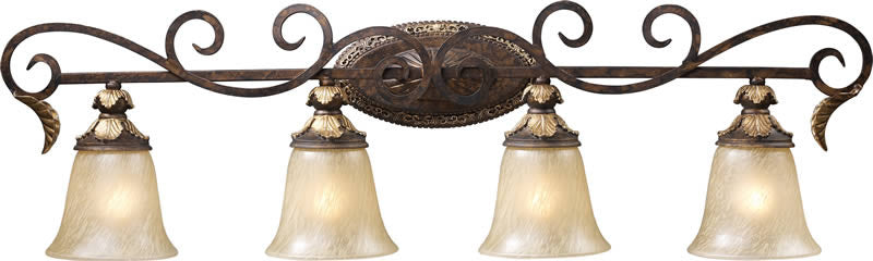 "39""w Regency 4-Light Bathroom Vanity Burnt Bronze"