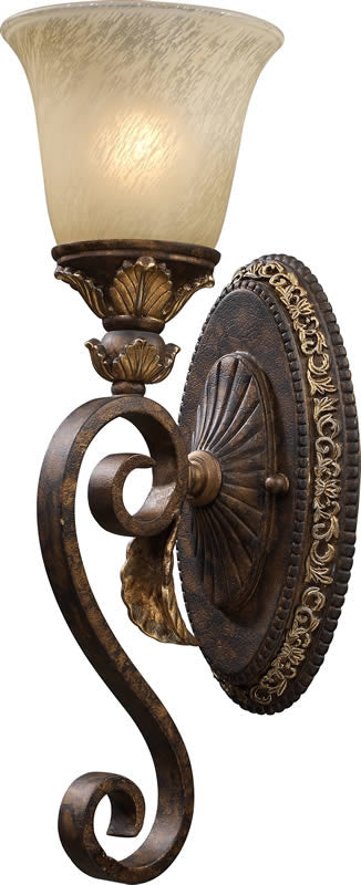 "6""W Regency 1-Light Wall Sconce Burnt Bronze"