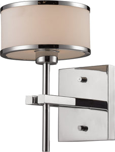Elk Lighting Utica 1 Light Bathbar Polished Chrome 114151