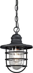 Elk Lighting Vandon 1-Light Outdoor Pendant Light Textured Matte Black 45213/1