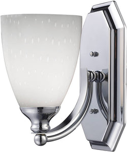 "5""w Vanity 1-Light Bathroom Vanity Polished Chrome/Simply-White"