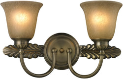 "18""w Ventura 2-Light Bathbar Antique Brass"