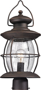 Elk Lighting Village Lantern 1-Light Outdoor Post Light Weathered Charcoal 47041/1