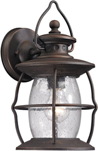 Elk Lighting Village Lantern 1-Light Outdoor Wall Light Weathered Charcoal 47040/1