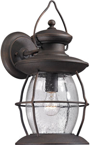 Elk Lighting Village Lantern 1-Light Outdoor Wall Light Weathered Charcoal 47042/1