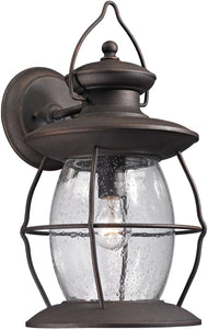 Elk Lighting Village Lantern 1-Light Outdoor Wall Light Weathered Charcoal 47044/1