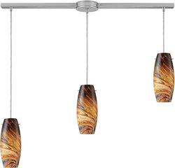 Elk Lighting Vortex 3-Light Island Pendant Satin Nickel 100793LRV