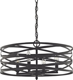 Vorticy 4-Light Chandelier Oil Rubbed Bronze