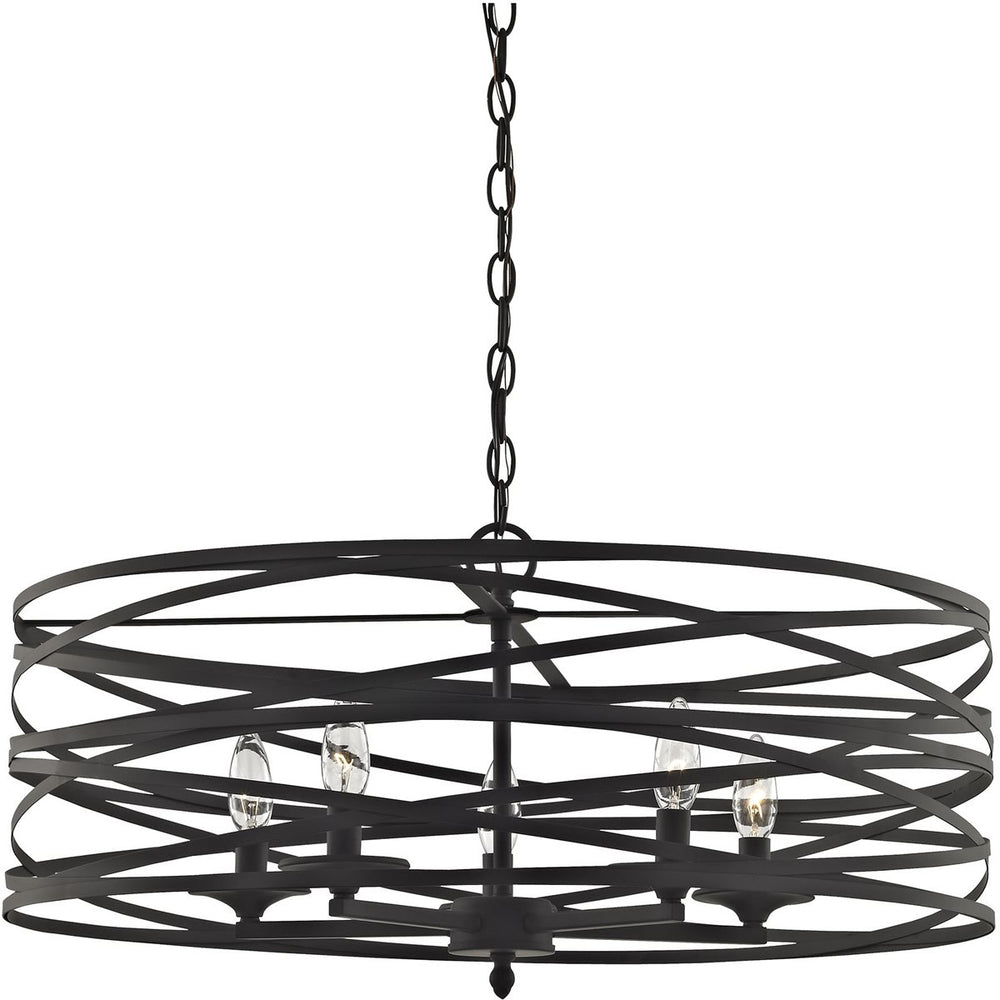 "26""W Vorticy 5-Light Chandelier Oil Rubbed Bronze"