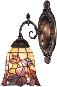 "5""w Mix-N-Match 1-Light Wall Sconce Tiffany Bronze"