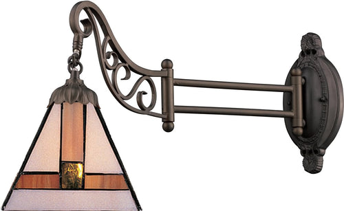 Elk Lighting Mix-N-Match 1-Light Swing Arm Sconce Tiffany Bronze 079TB01