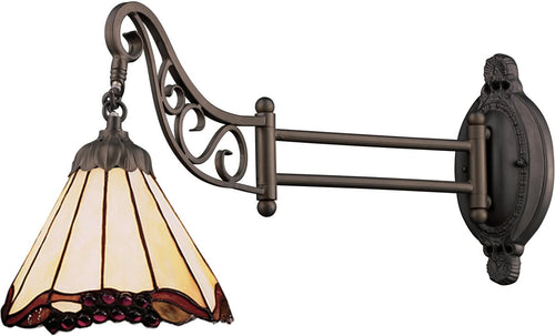 Elk Lighting Mix-N-Match 1-Light Swing Arm Sconce Tiffany Bronze 079TB03