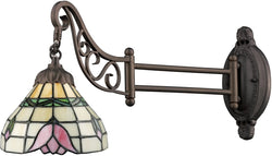Elk Lighting Mix-N-Match 1-Light Swing Arm Sconce Tiffany Bronze 079TB09